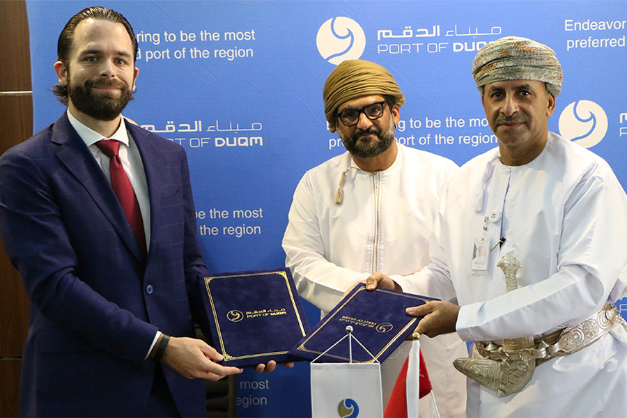 Oman Towers Company (OTC) and the Port of Duqm Company (PODC) sign an agreement